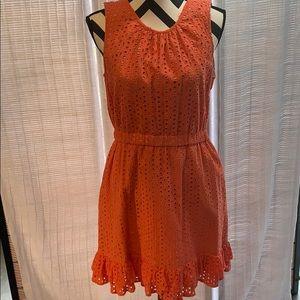 Peter Som for Design Nation Coral eyelet Dress 10